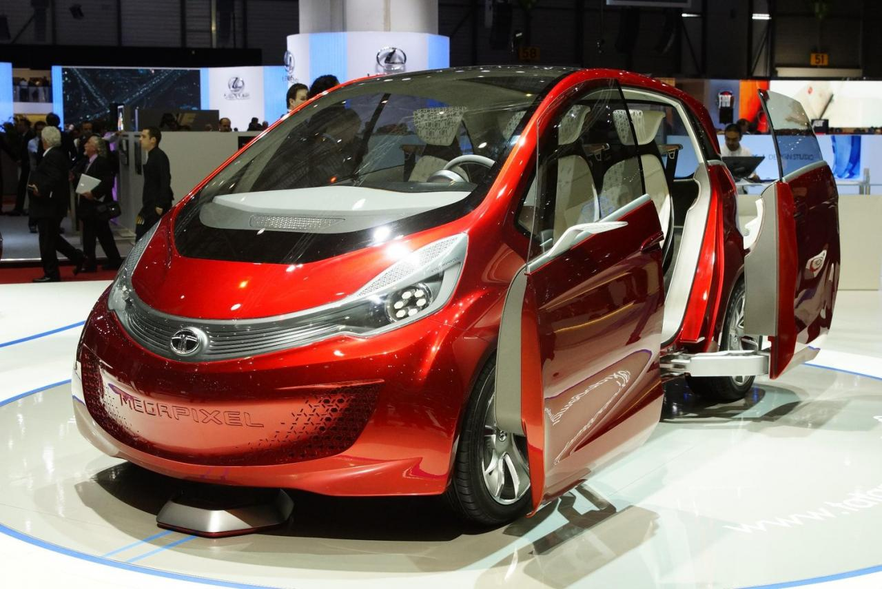 Video tata motors unveils megapixel concept at geneva for Tata motors electric car