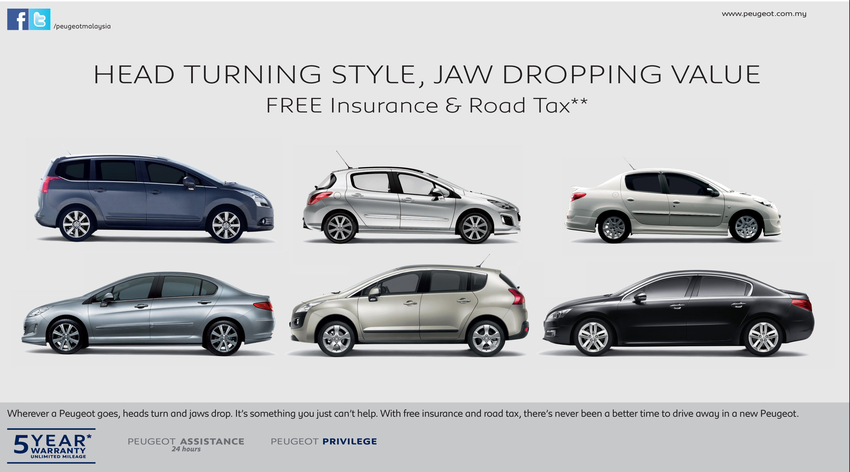 Peugeot Offers Free Road Tax and Insurance For One Year - wemotor.com