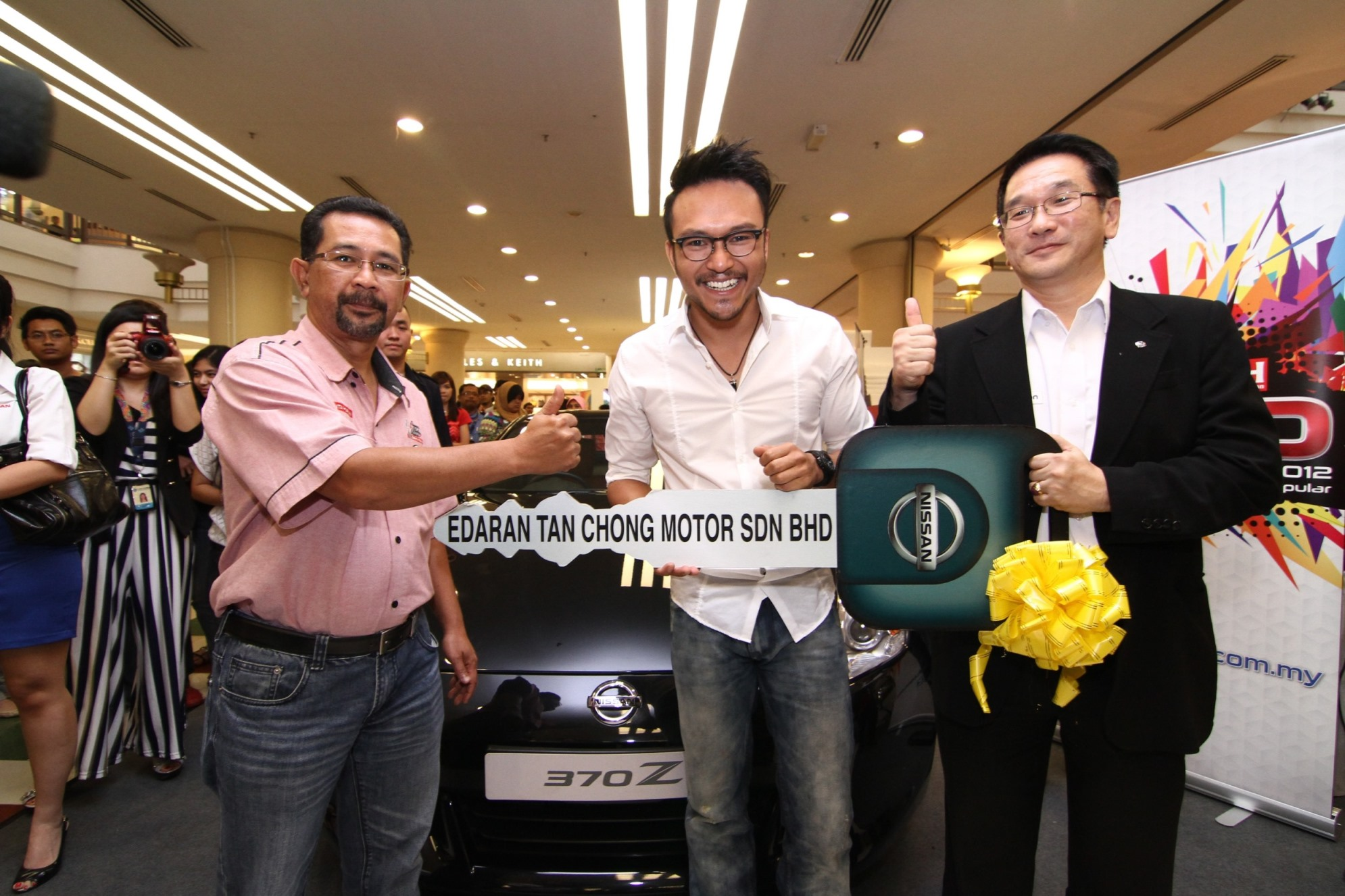 Sam, grand winner of ABPBH 2012 with his Nissan 370Z