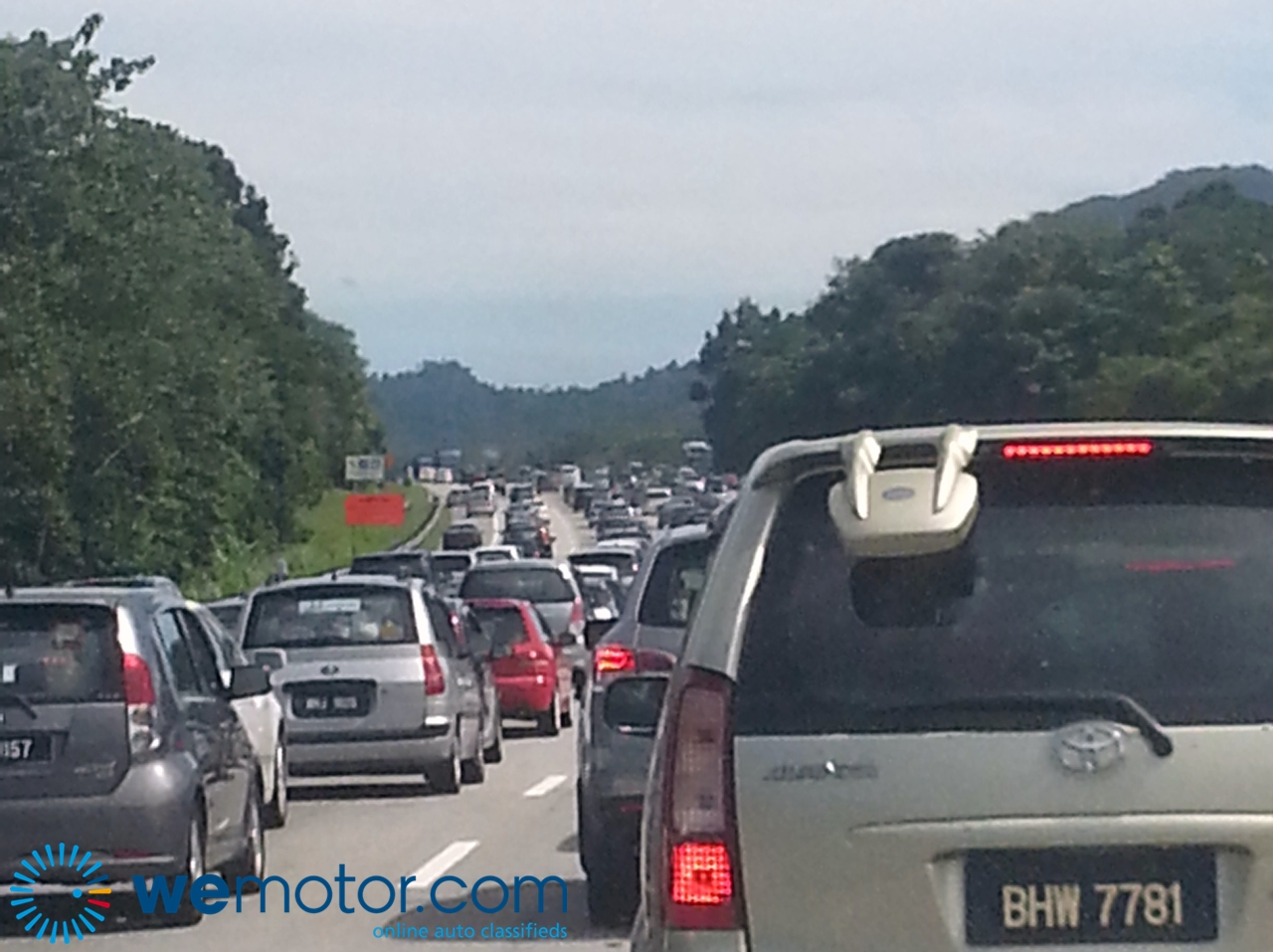 Congested Highway Traffic
